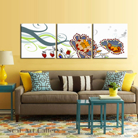 Simple Abstract Flower Art Modern Canvas Abstract Giclee Canvas Print High Definition For Living Room Decorative