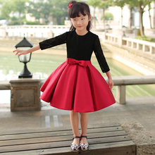 Family Matching Outfits Mom and Daughter Long Sleeves Black Red Dress Children Princess Skirt Photo Studio Photographic Clothes