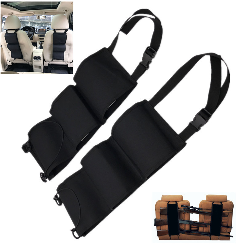 Car Front Back Rest Pocket Gun Sling Rack Hanging Bag Unisex Shotgun Holsters Hanging Bag Rifle Shotgun Hunting Accessories