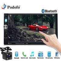Podofo 2 Din Car Radio 7080B MP5 Player 7 Touch Screen Auto Car MP3 Video Player Autoradio Bluetooth AUX 2din radio With Camera