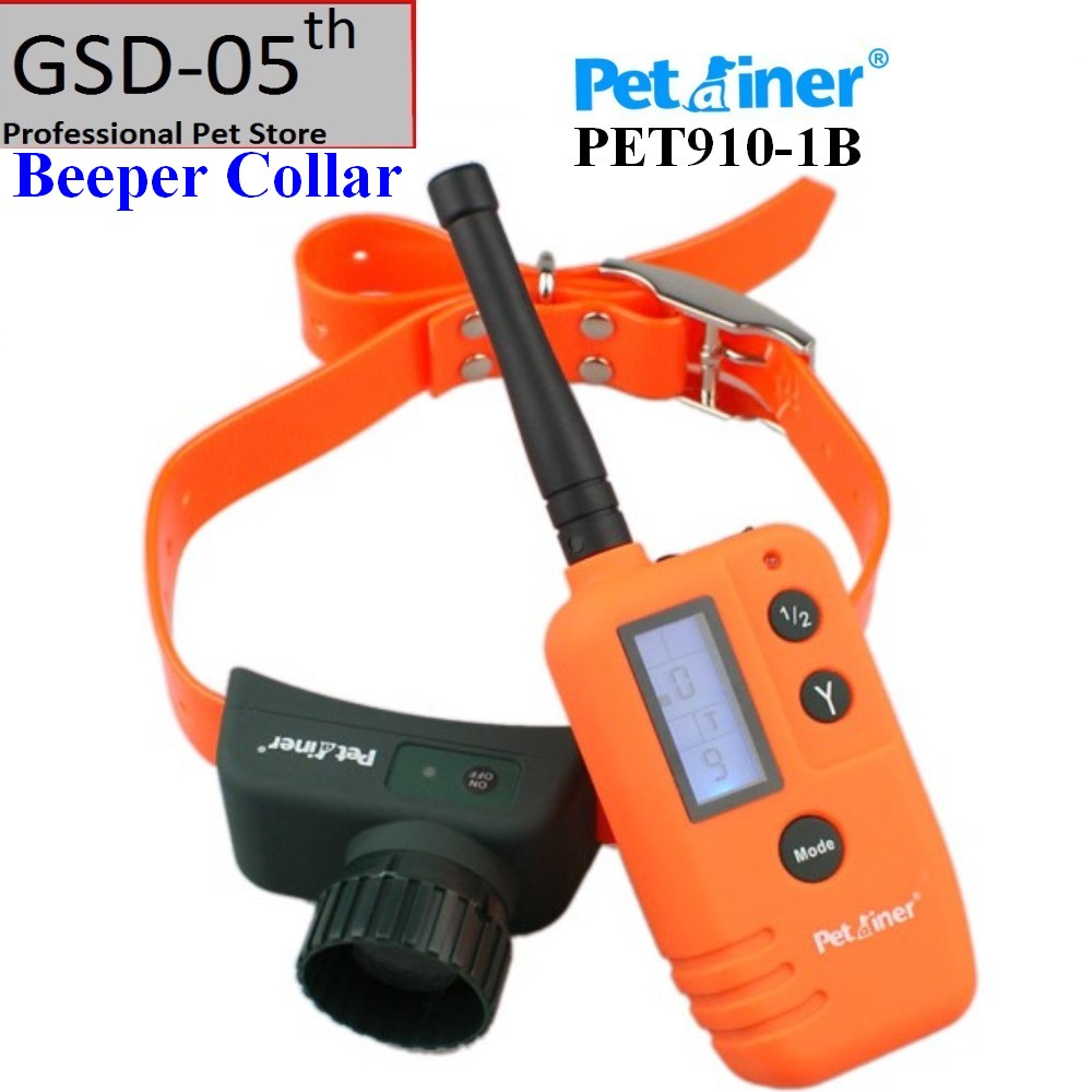 500m Hunter Blue LCD Electric Remote Dog Training Collar Petrainer Rechargeable Waterproof Beeper Only PET910 1B