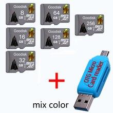 Goodisk Memory card Micro SD card class10 32GB 64GB 16GB 8GB TF card Microsd Pen drive Flash memory disk for smart phone + gift