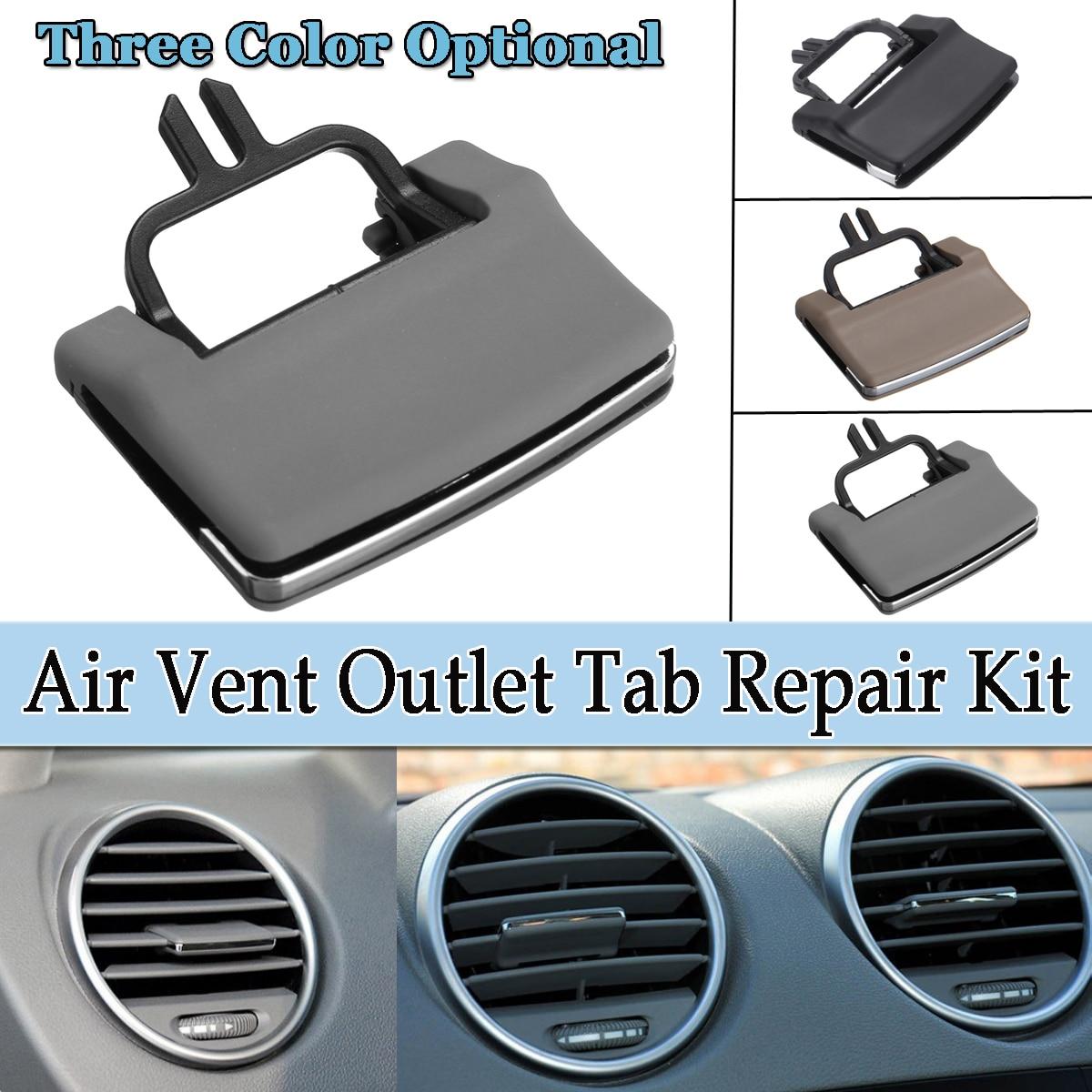 1 pc A/C Ar Condicionado Saída de Ventilação Tab Kit de Reparo Para Mercedes Benz ML GL W164 X164 plástico Bege/Cinza/Preto Clipe Pá