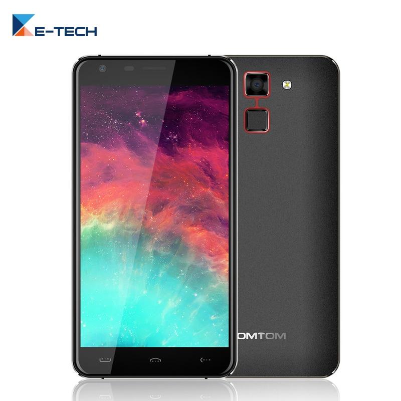 bilder für Homtom HT30 Smartphone 5,5 zoll MTK6580 Quad Core 1 GB RAM 8 GB ROM Handy Android 6.0 3000 mAh Fingerabdruck Handy