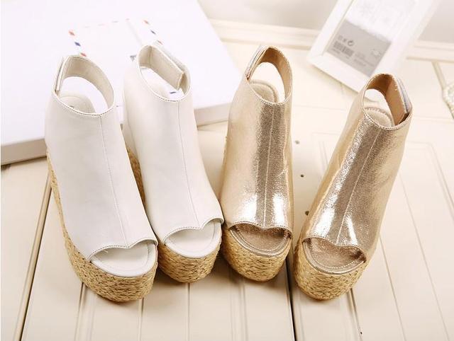 Women Wedge Summer Sandals on Platform Cheap Wedge Sandals Cute Platform  Summer Shoes Fashion Woven Wedge Heels Summer Sandals 793e0fc932