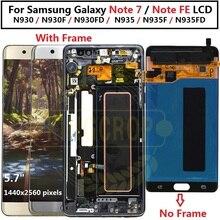 Samsung Galaxy not Fan Edition için LCD N935FD ekran dokunmatik ekran ile çerçeve sayısallaştırıcı için Samsung not FE lcd not 7 N930