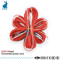 12K 25meters 58watt 220V 33ohm Teflon PTFE Carbon Fiber Heating Wire Heating Cable High Quality Low