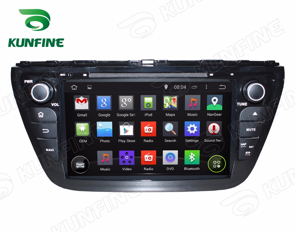 Quad core 1024*600 Android 5.1 Car DVD GPS Navigation Player Car Stereo for Suzuki SX4 S Cross 2014 Wifi/3G Bluetooth