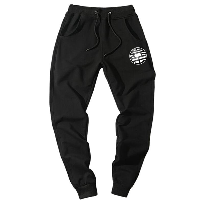 Casual Funny Print Dragon Ball Goku Mens Pants Cotton Autumn Winter Gray Men Joggers Sweatpants Plus Size Black Trouser Pantalon #3