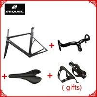 Заводская цена хорошего качества полностью углеродного волокна дороги велосипеда распродажа фреймов Руль + седло + флягодержатель китайск