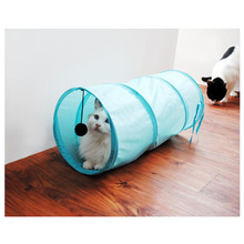 Pet Cat Tunnel Lovely Crinkly Kitten Tunnel Toy With Ball Play Fun Toy Tunnel Bulk Cat Toys Rabbit Play Tunnel 50cm