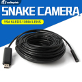 Mini Snake Camera Portable With 15m(49.2ft) Cable  10mm Lens 6 LEDs USB Endoscope Inspection Security Camera Waterproof