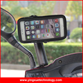 Waterproof Case Holder Scooter Motorcycle Rear View Mirror Mount Case for iPhone 6,7, Samsung S3/S4 4.8 inch Smart Phones