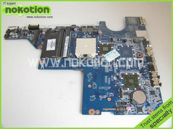NOKOTION LAPTOP MOTHERBOARD FOR HP G42 G62 SERIES HDMI 592809-001 DA0AX2MB6E1 MOTHER BOARD DDR3 100% GOOD TESTED стоимость