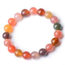 Candy Colors Round Beads Agate Bracelets DropShipping Luck Amulet Natural Agete Bracelet & bangles For Women Girlfriend Gift