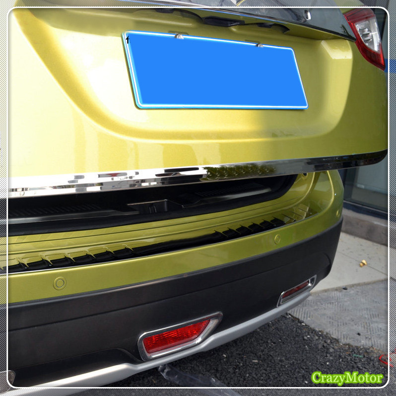 For Suzuki sx4 s-cross 2014-2018 Stainless steel Car Rear Tail Gate Molding Cover Trim tailgate frame sticker 1pc car auto accessories rear trunk molding lid cover trim rear trunk trim for nissan sunny versa 2011 abs chrome 1pc per set