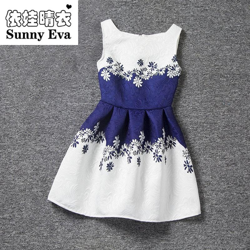 sunny eva  print party girl dress baby clothes princess tutu summer dresses for girls Children dress up for girls holidays kids monsoon girls dresses summer baby girls clothes kids dresses lemon print princess dress girl party cotton children dress 67