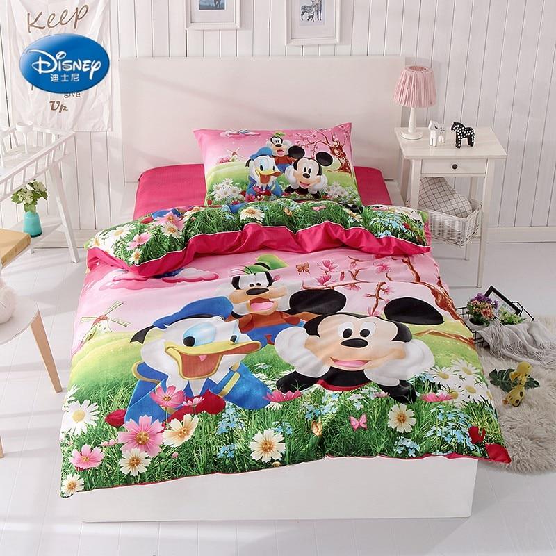 Mickey Mouse Donald Duck Bedding Set Children's Kids