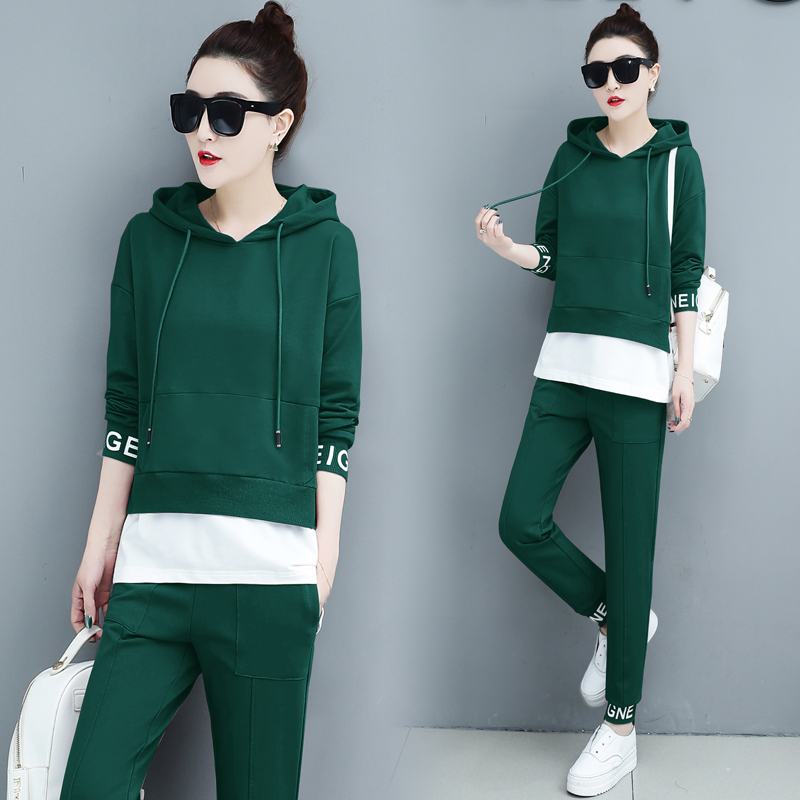 Autumn Sport Two Piece Sets Tracksuits Outfits Women Plus Size Hooded Sweatshirts And Pants Korean Casual Fashion Matching Sets 48