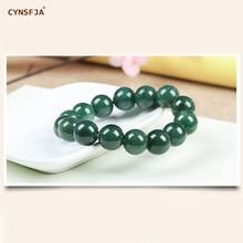 Certified Natural A Grade Burmese Jadeite Myanmar Emerald Bangle Women Beads Jade Bracelets Green High Quality Wonderful Gifts цена и фото