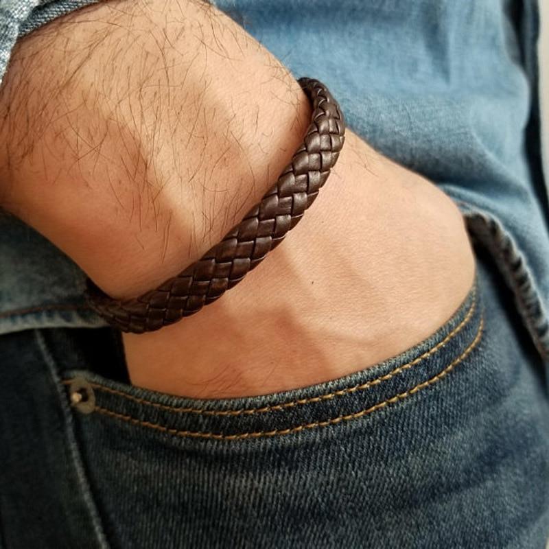 2019 Men Luxury New Simple Wrap Leather Bracelet Men