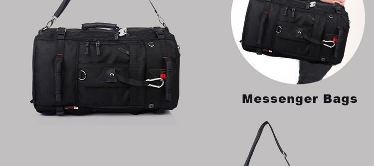 KAKA Men Backpack Travel Bag Large Capacity Versatile Utility Mountaineering Multifunctional Waterproof Backpack Luggage Bag 12