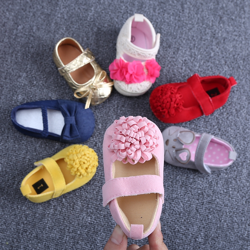 Summer Baby Shoes girls princess footwear,Flower Girls Shoes First Walkers soft sole bebe sapatos Size 11,12,13cm