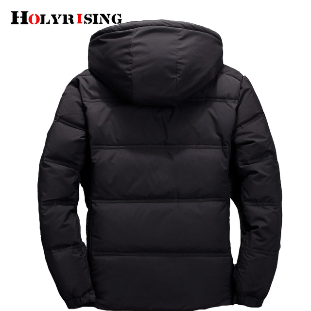 Men down coat piumino uomo inverno 3 color doudoune Jacket Men Hooded Windproof Outerwear Casual White Down Coats 18518-5