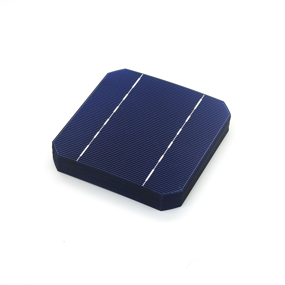 10 Pcs 2.8W 125 * 125MM Cheap Mono Solar Cells 5x5 Grade A Monocrystalline Silicon PV Wafer For DIY Photovoltaic Solar Panel