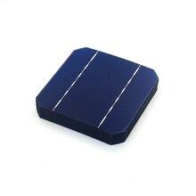 Bolacha de Silício PV para DIY 10 PCS 17.6% 125×125 MM Células Solares Mono 5X5 Grau UMA Monocristalino Casa Painéis Fotovoltaicos