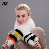 2018 winter fox fur collar women 100% pure natural fox fur scarf fur warm scarf