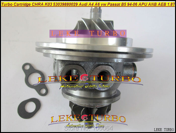 Free Ship Turbo Cartridge CHRA K03 53039700029 53039880029 Turbocharger For AUDI A4 A6 VW Passat B5 1.8L BFB APU AWT AEB 1.8T turbo chra cartridge core gt1749v 717858 5009s 717858 0005 717858 for audi a4 a6 for skoda superb for vw passat b6 awx avf 1 9l
