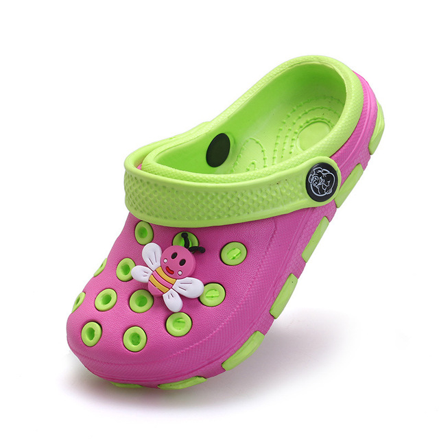 df5f30f4b El Bebe Oso Kids Clogs Children Sandals Boys Girls Hole Resin Shoe Baby  Summer Home Slippers Teenager Shoes Beach slipper 25-35