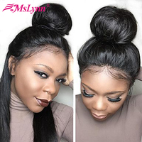 360 Lace Frontal Wig Raw Indian Hair Straight Lace Front Human Hair Wigs Pre Plucked Remy Mslynn Hair Natural Hairline Lace Wigs