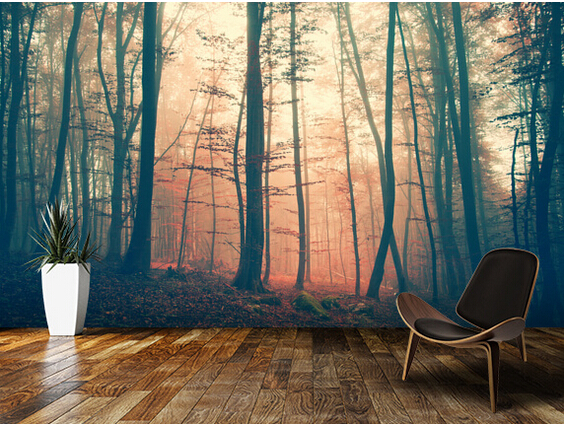 Custom landscape wallpaper mystic forest 3d wallpaper for Wallpaper home renovation