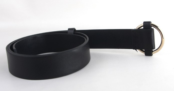 Newest Gold Round buckle belts female HOT leisure jeans wild belt without pin metal buckle brown leather black strap belt women 8