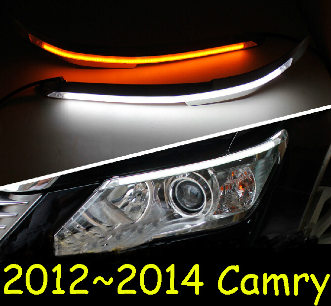 Car-styling,Camry daytime light,2012~2014,chrome,LED,Free ship!2pcs,Camry fog light,car-covers,Camry headlight, Camry camry mirror lamp 2006 2007 2008 2009 2011 camry fog light free ship led camry turn light camry review mirror camry side light