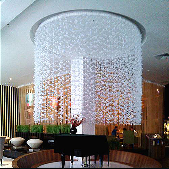 Partition Crystal Bead Curtain Finished Product Entranceway Decoration Feather