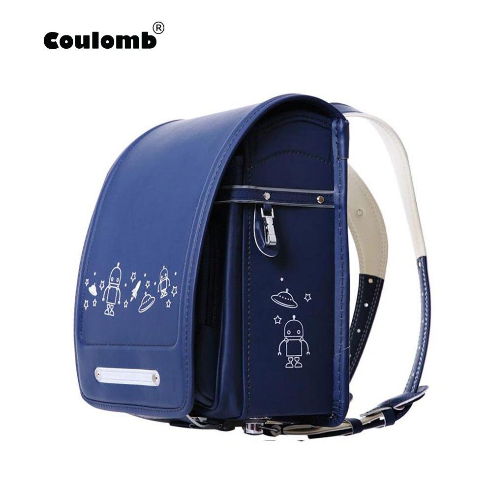 Кулоновский персонаж рюкзак для мальчиков школьные сумки ортопедический ранец НЛО черный и синий искусственная кожа студенческие рюкзаки