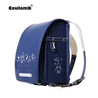 Coulomb Character Backpack For Boys School Bags Orthopedic Japan school Bag PU Leather Student Backpacks For Kid Baby Bags