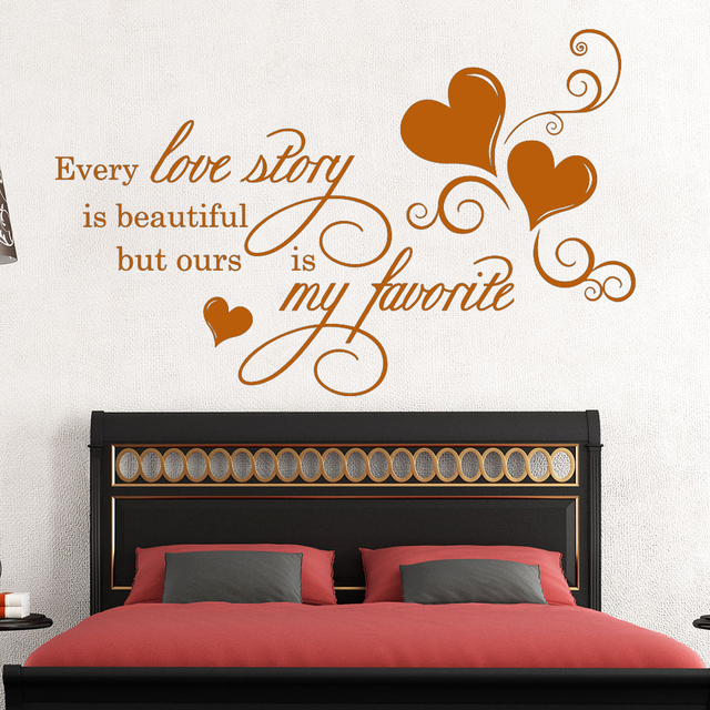 Removable Colorful Love Words Wall Sticker for Home Decor