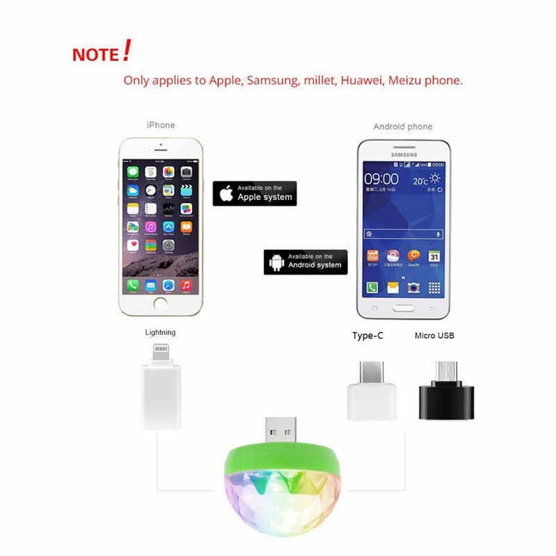 ZjRight Colorati Partito di Cristallo HA CONDOTTO LA Luce Effetto DC 5V per il iPhone Samsung Android ios Portatile della discoteca KTV Casa di vacanza effetto di luce