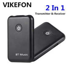 VIKEFON Bluetooth Receiver Transmitter 2 in 1 Wireless Bluetooth Aux Audio Receiver 3.5mm Jack Car Adapter for TV PC Headphone