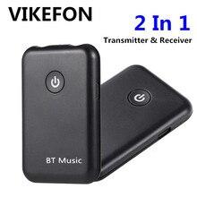 VIKEFON odbiornik Bluetooth nadajnik 2 w 1 bezprzewodowy Bluetooth odbiornik Audio Aux 3.5mm Jack samochodu Adapter do TV do słuchawek na PC