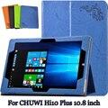 Magnet pu leather case suporte para chuwi hi10 plus clamshell case para tablet pu proteção shell para chuwi hi10 plus case + presente