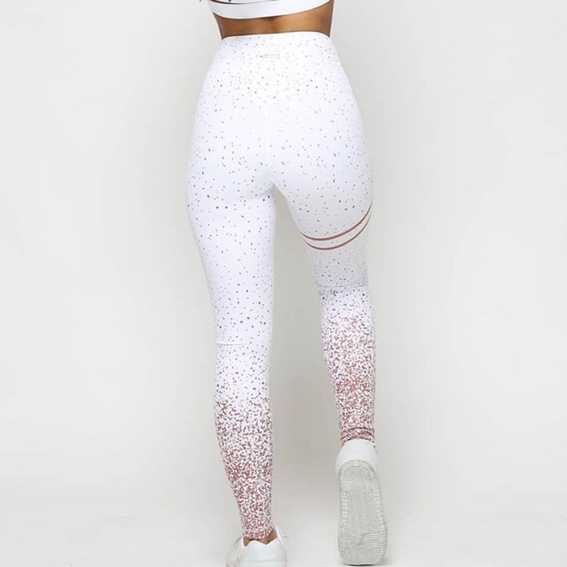 2019 Women Pink White Grey Print Leggings Casual High Waist Sportwear Clothes Fitness