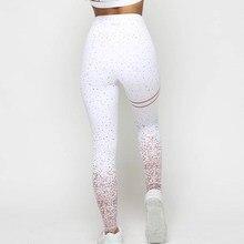 2019 Women Pink White Grey Print Leggings Casual High Waist Sportwear Clothes Fitness