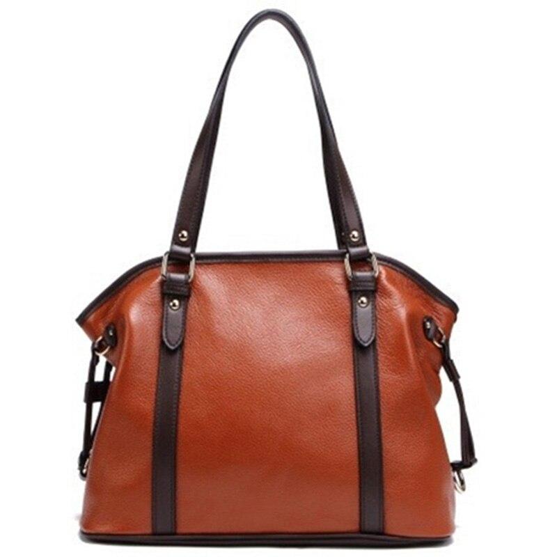 ФОТО Woman Genuine Leather Handbag Large Cowhide Handbags Big Tote High Quality Women's Messenger Bags Shoulder Bag Bolsos