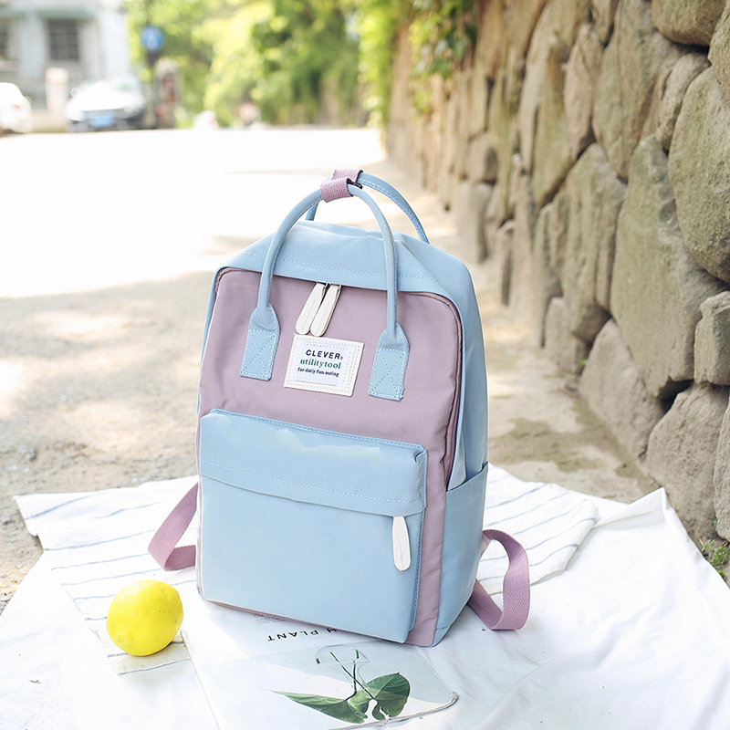 Campus Women Backpack School Bag For Teenagers College Canvas Female Bagpack 15inch Laptop Back Packs Bolsas Mochila #5