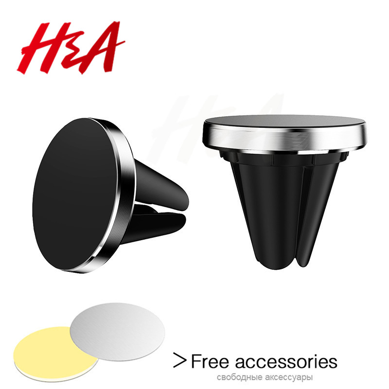 H&A Universal Car Holder For iPhone X 8 7 6 Plus Magnetic Air Vent Mount Stand Mobile Phone Holder For Samsung S9 S8 Plus NOTE 8